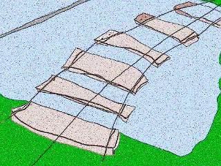 Hängebrücke mit großen Lücken